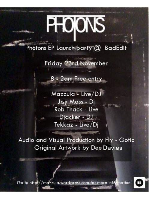 Photons party poster